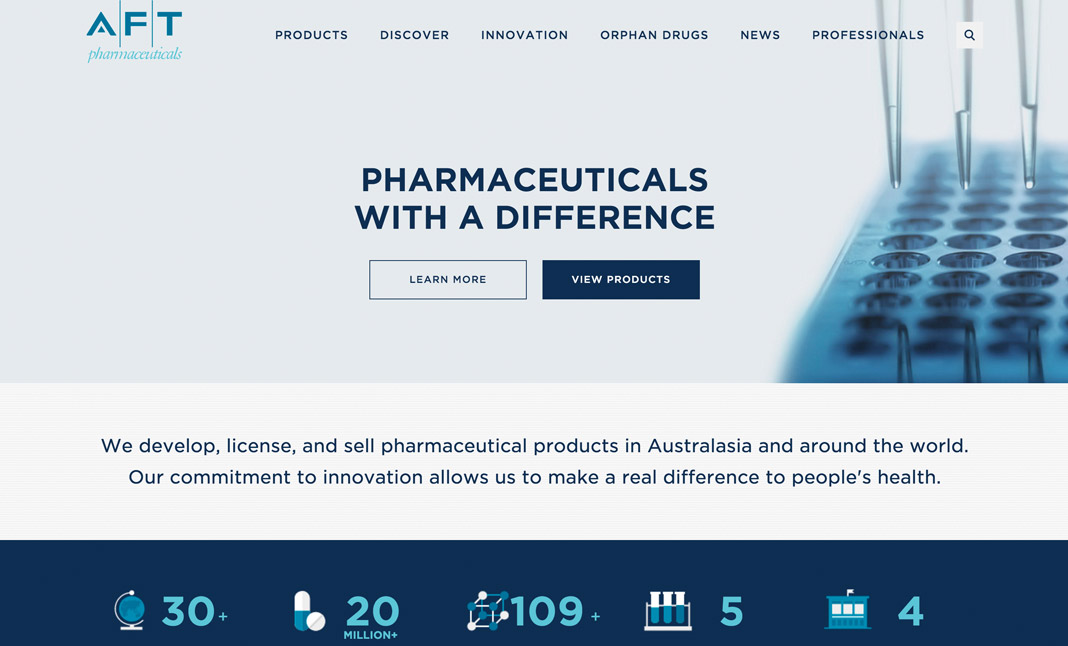AFT Pharmaceuticals website