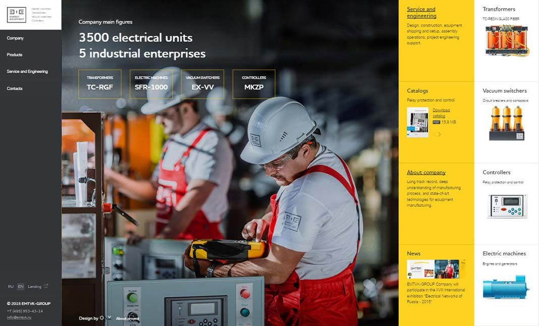 Energy Equipment website