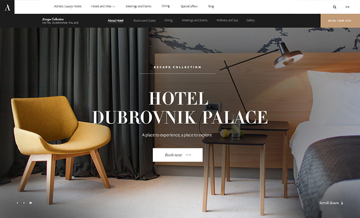 Adriatic Luxury Hotels website