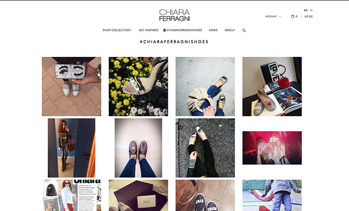 Chiara Ferragni Collection website