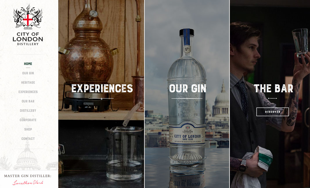 City of London Gin Distillery website