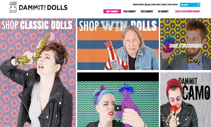 Dammit Dolls website