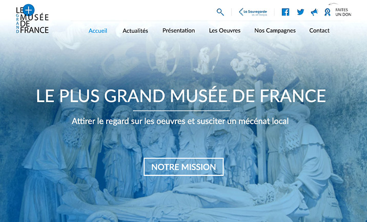 Le Plus Grand Musee de France website