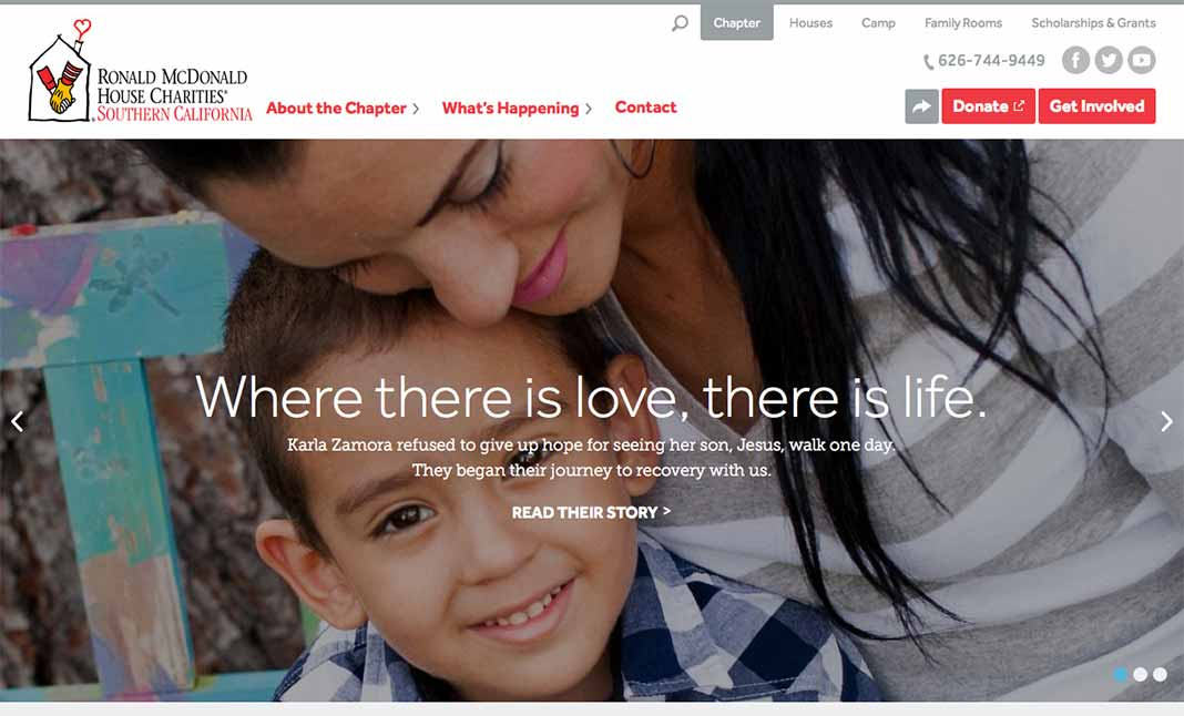 Ronald McDonald House Charities  website