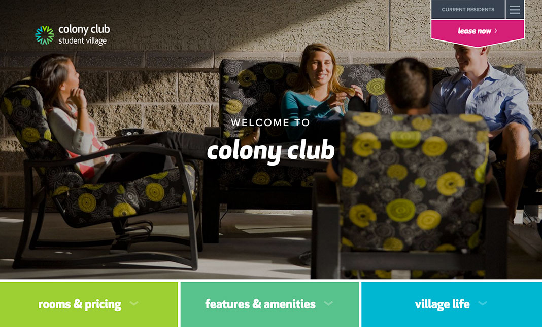 Campus Living Villages website