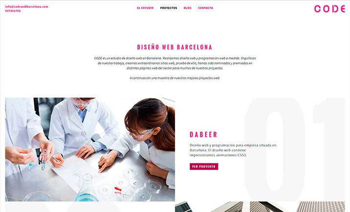 Diseño web Barcelona website