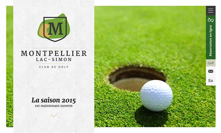 Golf Montpellier website