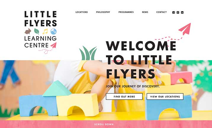 Little Flyers website
