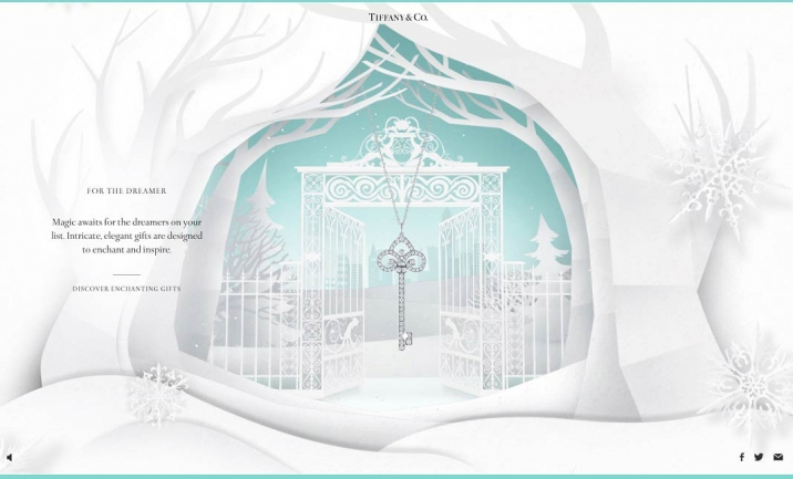 Tiffany & Co. Holiday Gift Guide website