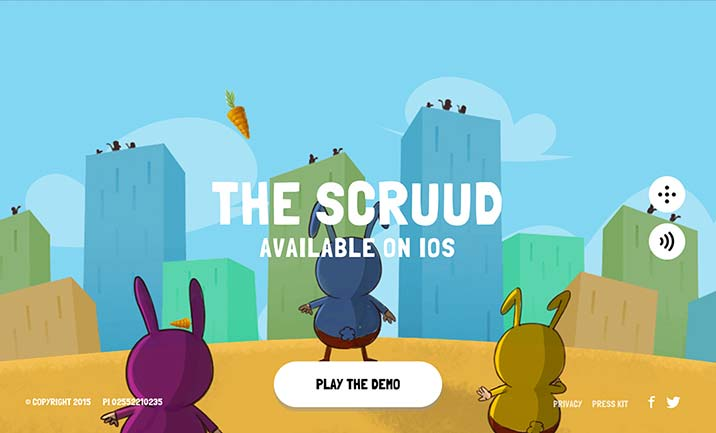 The Scruud website