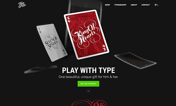 The Type Deck website