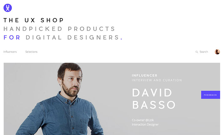 The UX Shop website
