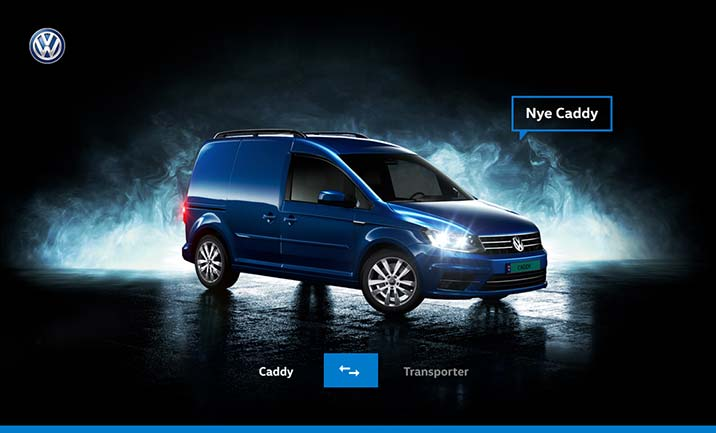 Caddy vs Transporter website