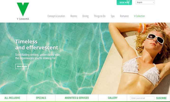 V Collection Resorts website