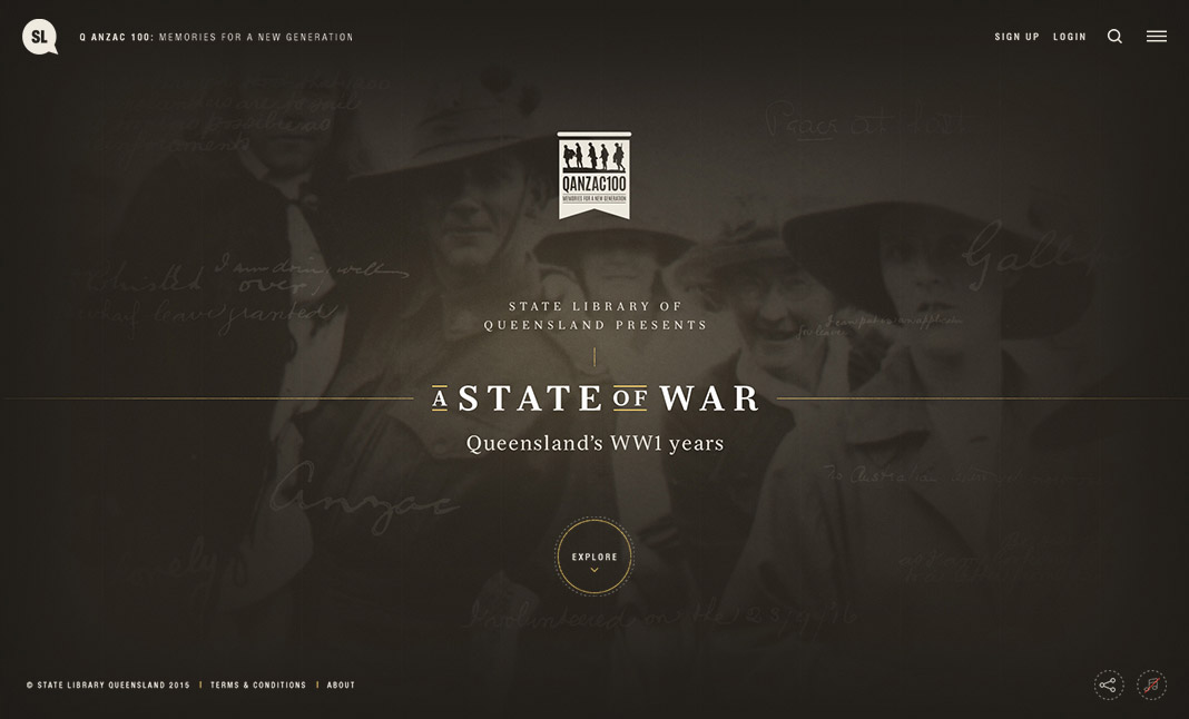 A State of War website