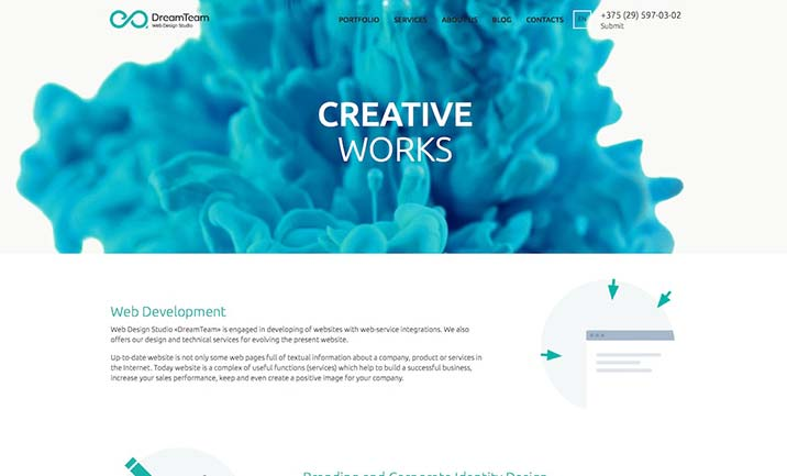 Web Design Studio DreamTeam website