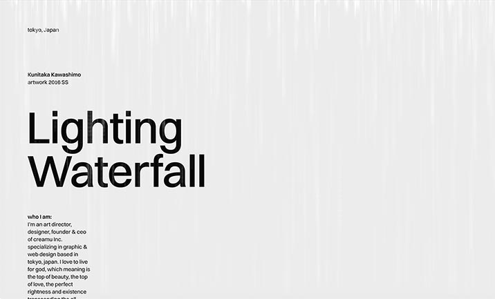 Lighting Waterfall website