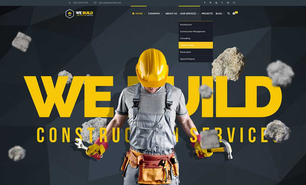 WeBuild - Construction Theme website