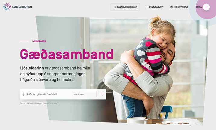 Reyjavik Fiber Networks website