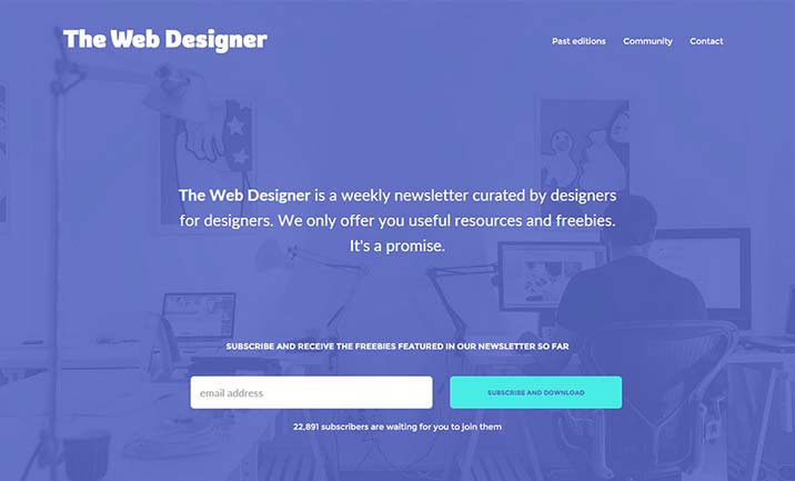 The Web Designer Newsletter website