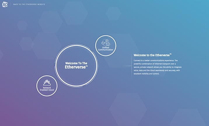 The Etherverse website