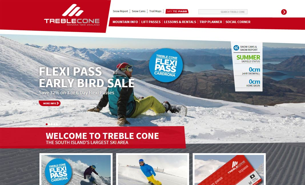 Treble Cone website