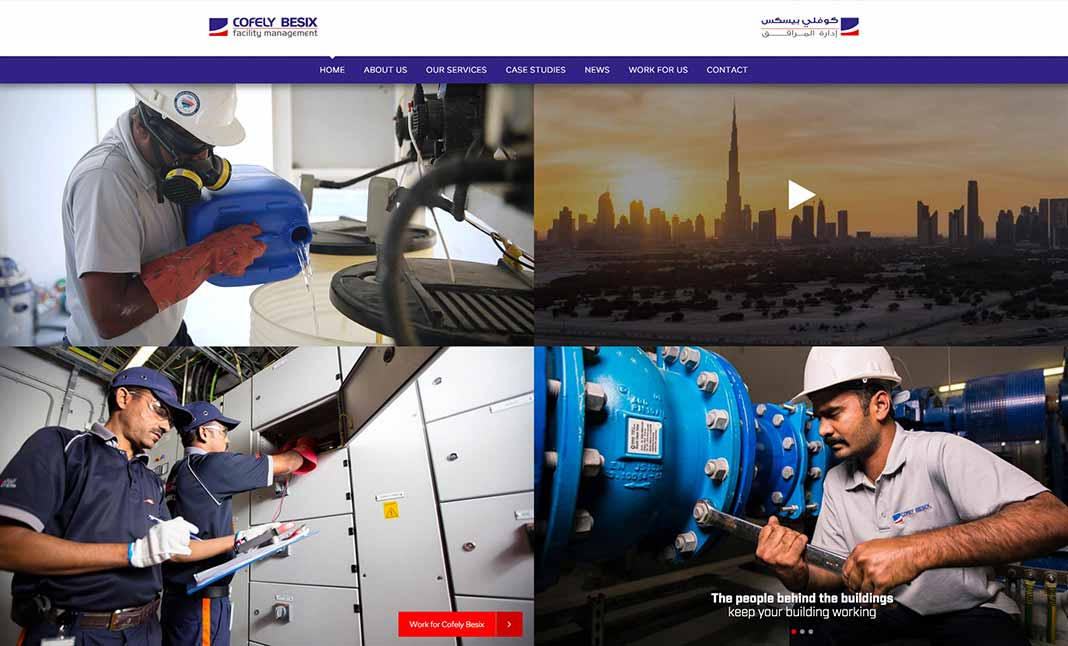 Cofely Besix Facility Management website