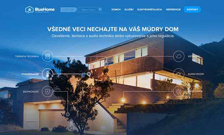 Bluehome website