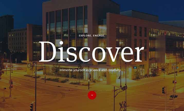 Discovery Building website