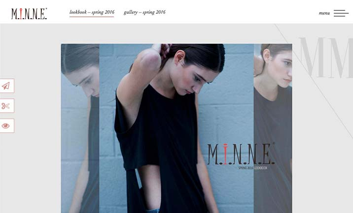 MiNNE Apparel website