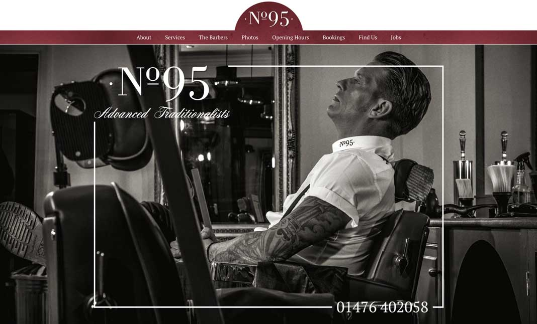 No.95 Barbershop website