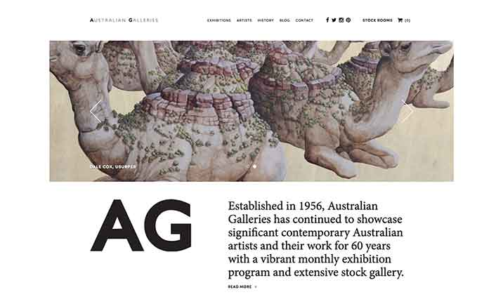 Australian Galleries website