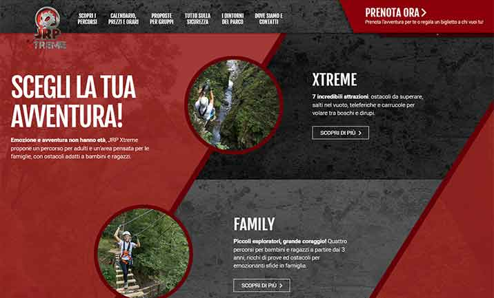 Jungle Raider Park Xtreme website