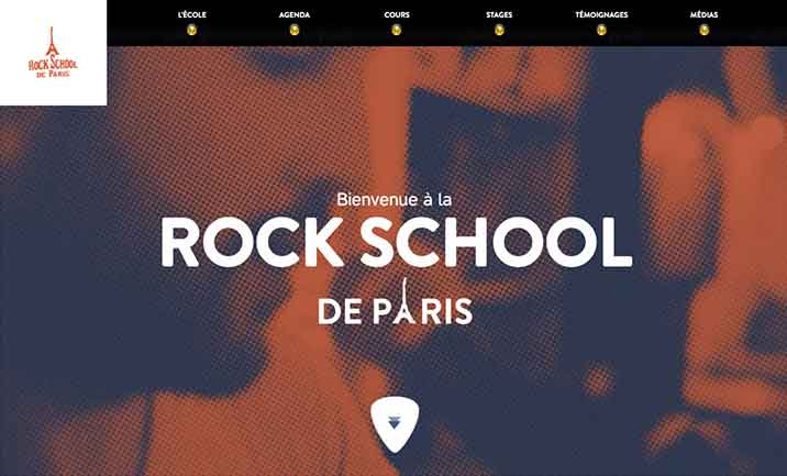 Rock school de paris website
