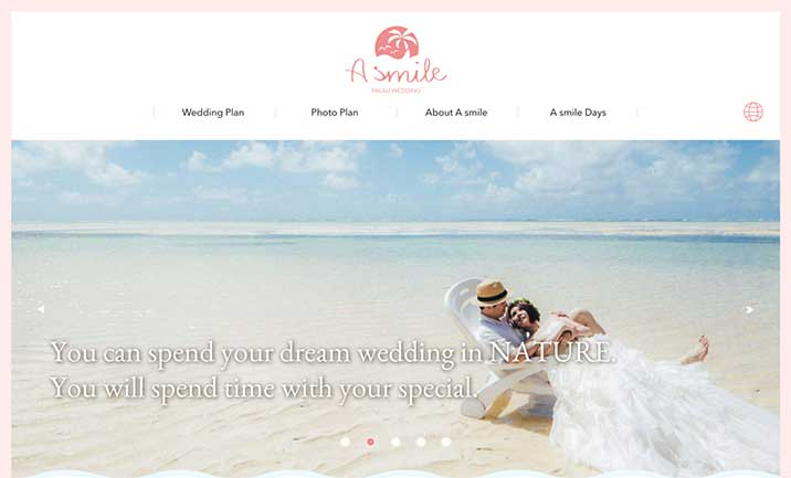 PALAU Wedding A smile website
