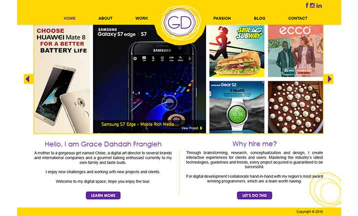 GD Senior Digital Art Director website