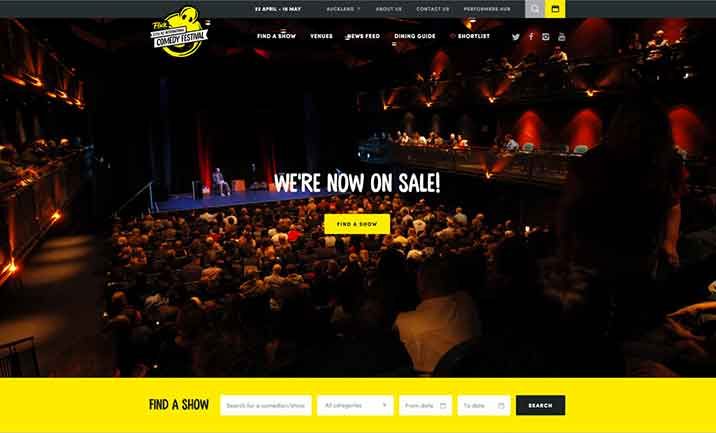 NZ International Comedy Festival website