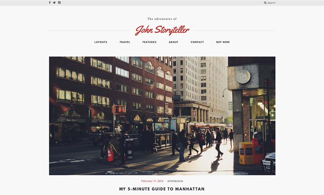 Storyteller - A Narrative Theme website