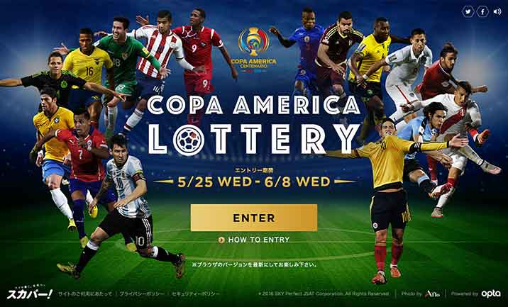 COPA AMERICA LOTTERY website