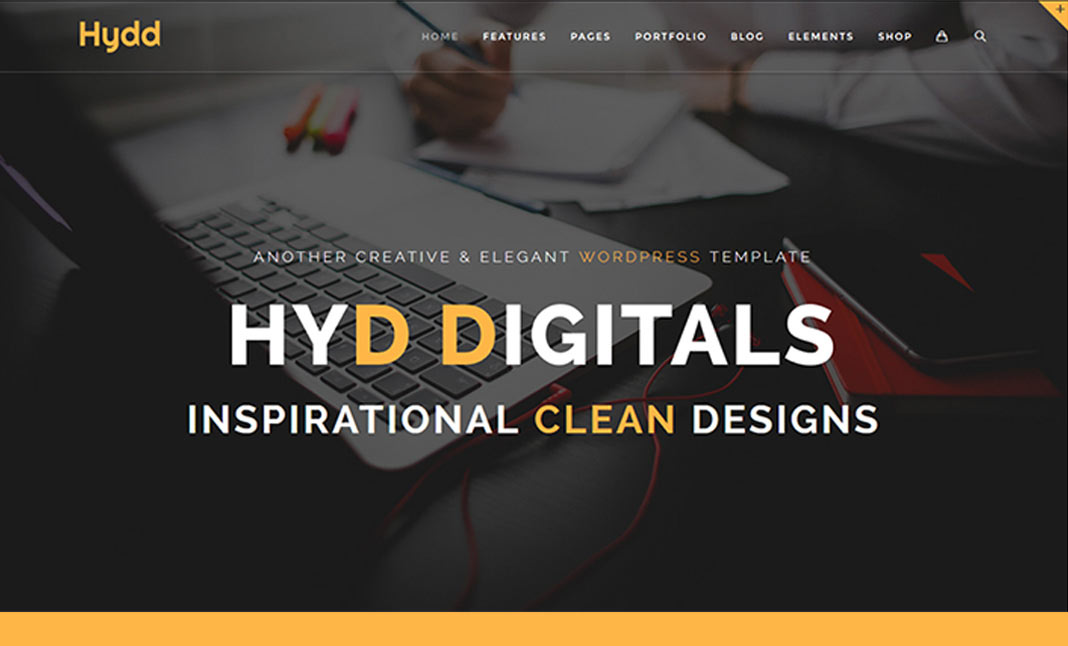 Hydd - Creative Wordpress Theme website