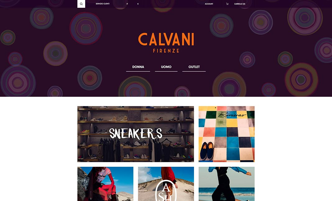 Calvani Firenze website