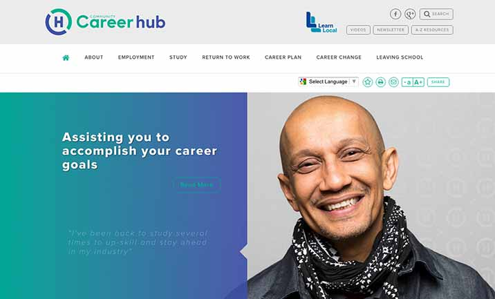 Community Career Hub website