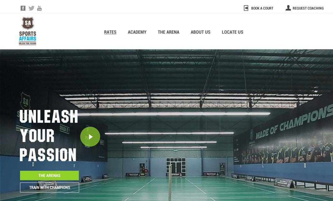 Sports Affairs website