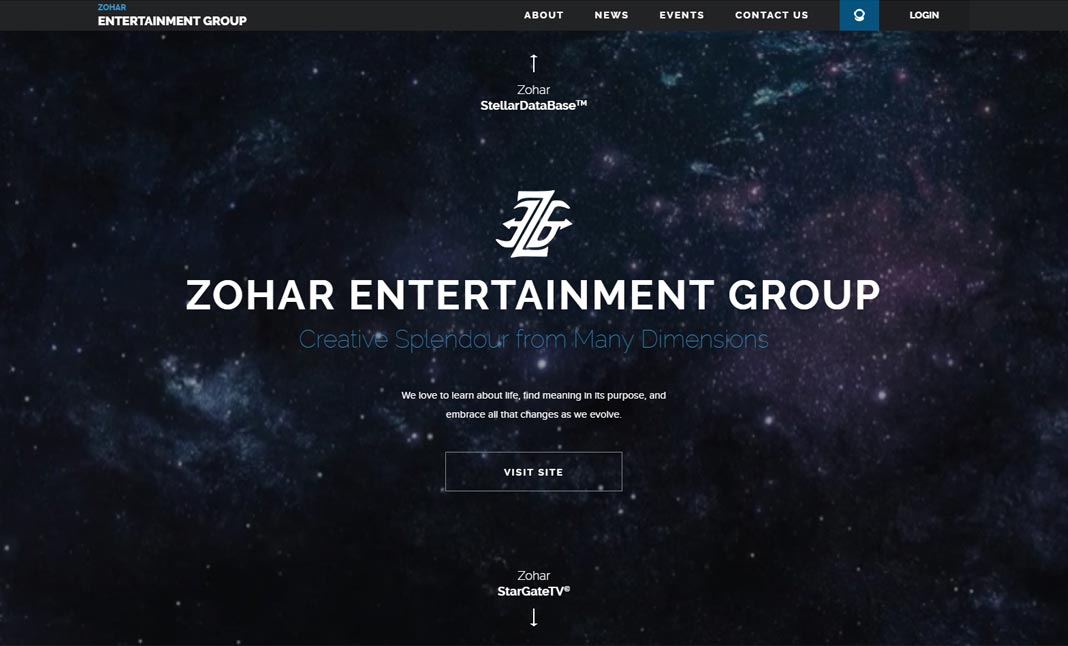 Zohar Entertainment Group website