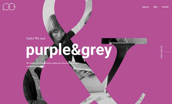 purple&grey website