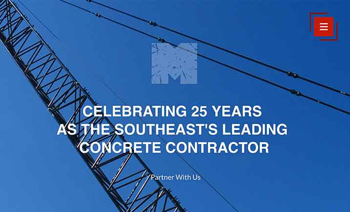 Martin Concrete website