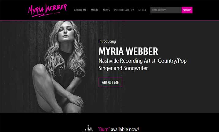 Myria Webber website