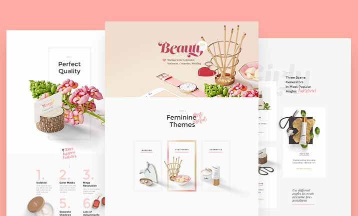 Beauty: Mockup Scene Generator website