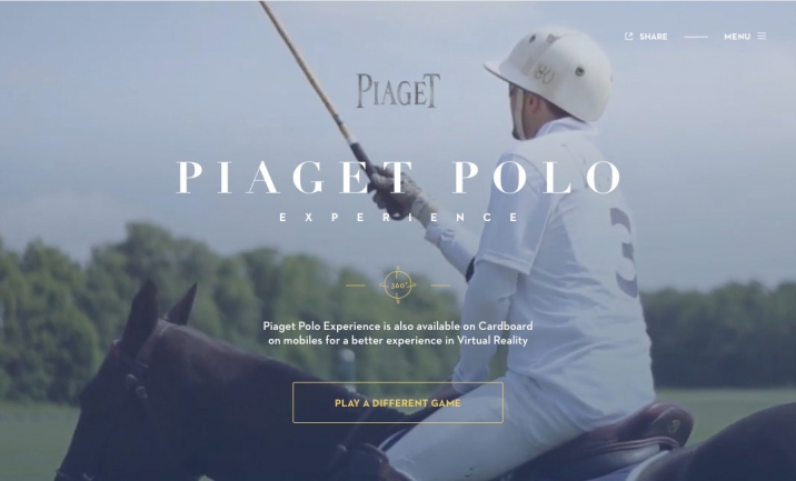 Piaget: Polo Experience website