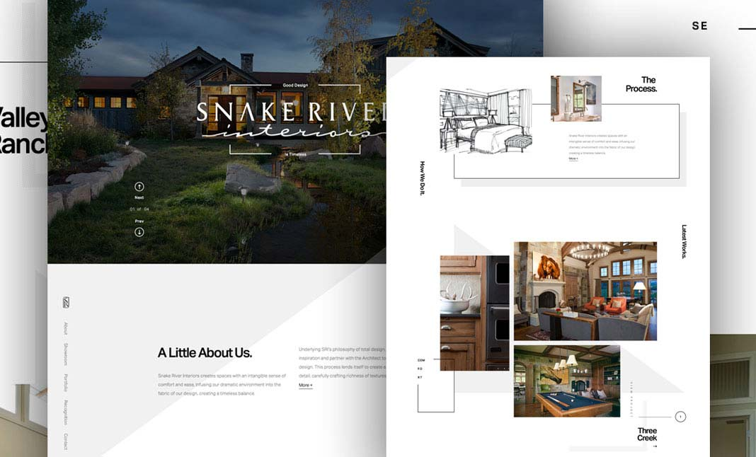 Snake River Interiors website